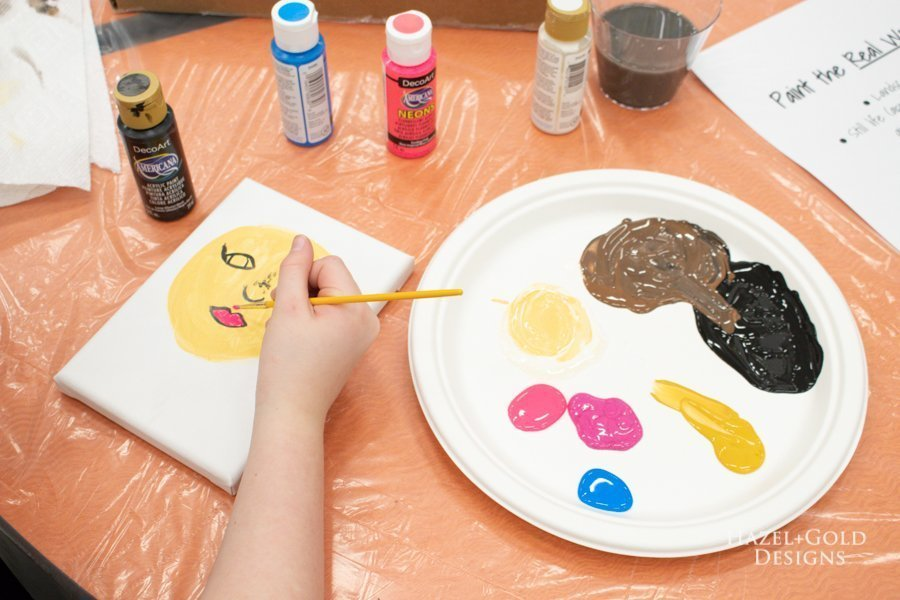 paint the real world brownie painting badge activity