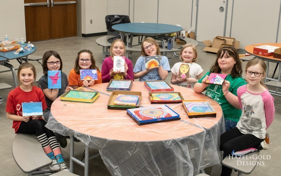 girl scout brownie painting badge activity ideas