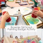 brownie girl scout painting badge activity pinterest image