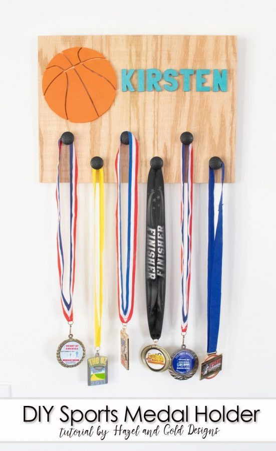 diy sports medal holder pinterest image