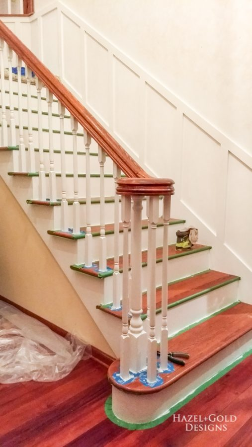 paint spindles and risers