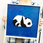 completed panda wall art