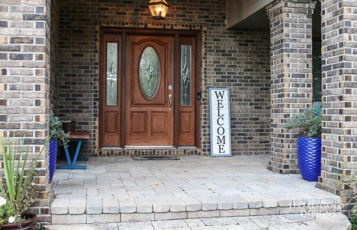 Front porch image with sign