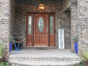 DIY Farmhouse style 2x4 Wooden Welcome Sign -11