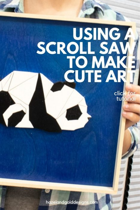 diy panda wall artwork