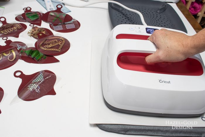 apply iron-on foil using the cricut easypress 2