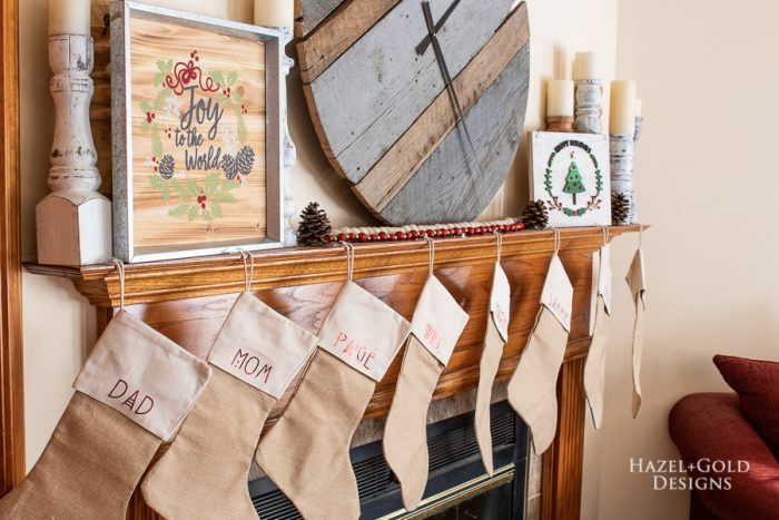 DIY personalized holiday stockings using the cricut explore air 2-10