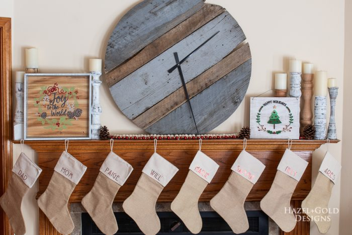 DIY personalized holiday stockings using the cricut explore air 2-17