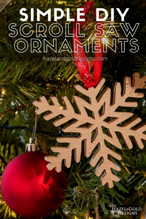 Simple DIY Scroll Saw Ornaments Pinterest image