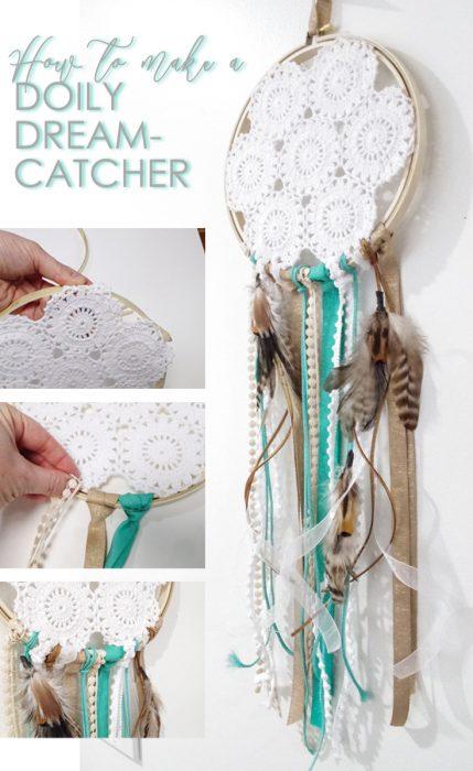 how to make a diy doily dreamcatcher